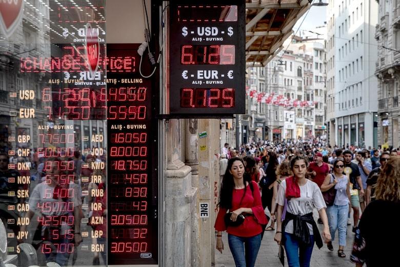 Türkiye'de Bitcoin Fiyatını Gösteren Bir Elektronik Kur Tabelası