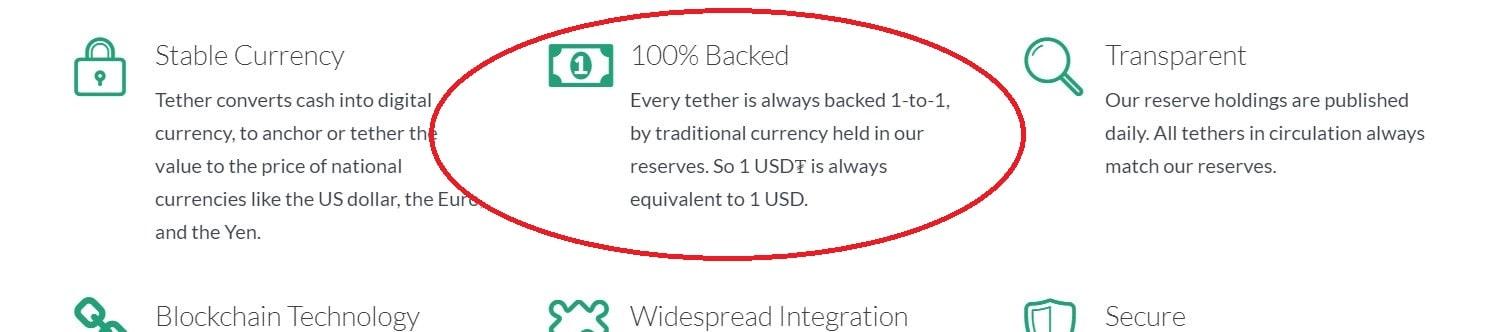 Tether Web Sitesi Eski Açıklaması